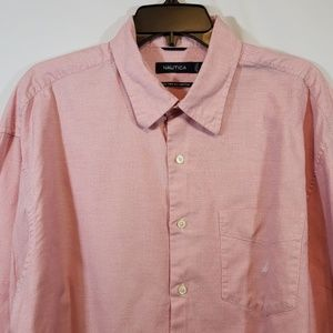 NAUTICA SHIRT LONG SLEEVE 80S TWO-PLY COTTON EUC